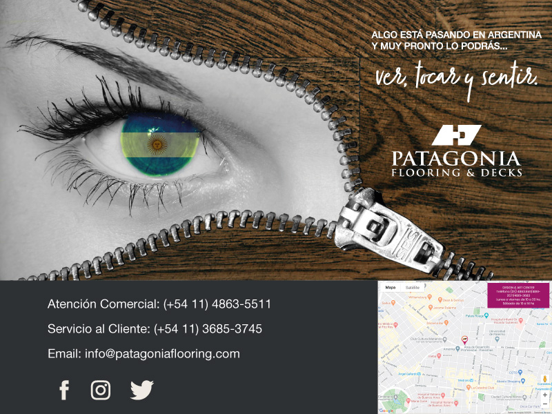Portafolio Diseño Come and Communicate - Patagonia Flooring