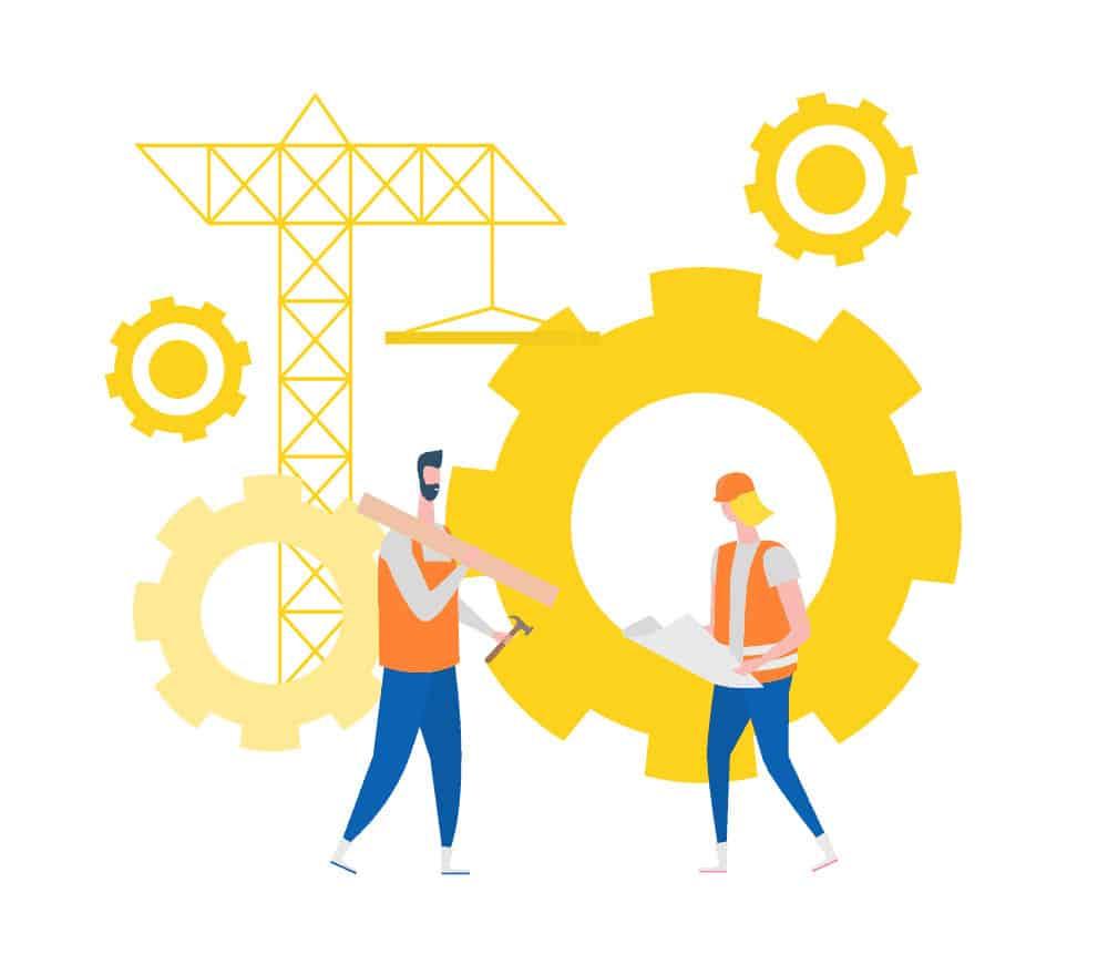 Empleados de Come Communicate trabajando